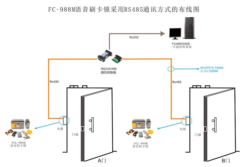 门禁遥控接线图
