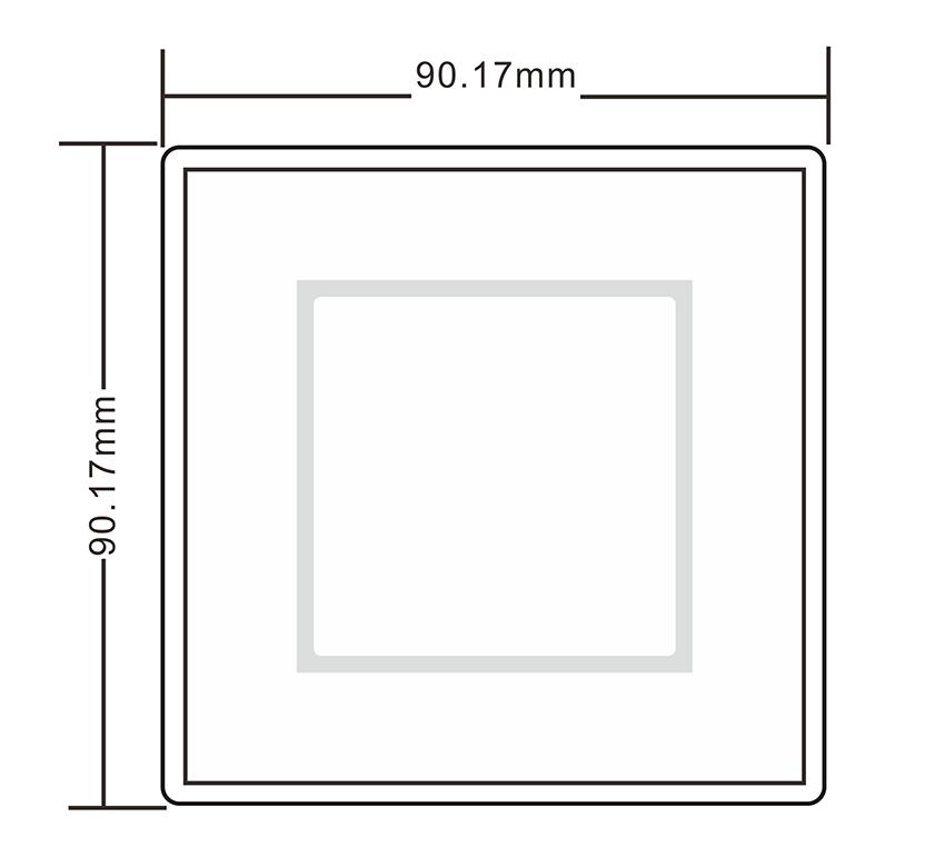 二维码门禁读卡器的尺寸图
